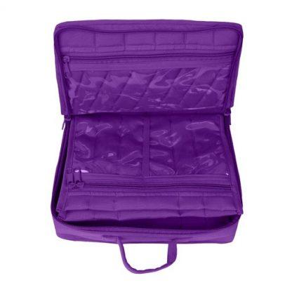 Mini Organizer - Large (Purple). Open bag image.