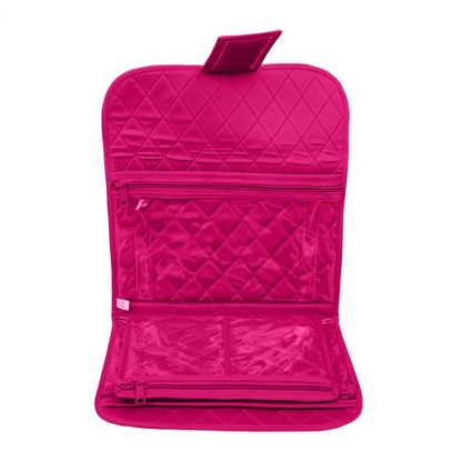 Trifold Craft Project Case (Fuchsia). Open case image.