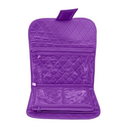 Trifold Craft Project Case (Purple). Open case image.