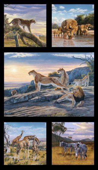 African Animals Panel