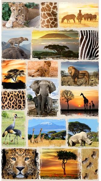 Wild Safari Panel Q4492-565-Savannah