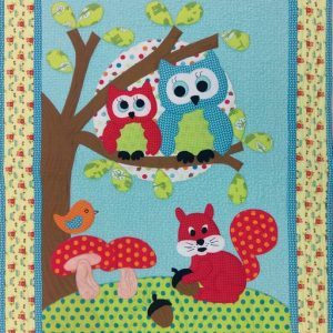 Goodnight Owl Wall Hanging – Finished Quilt