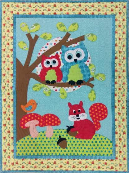 Goodnight Owl Wall Hanging - Finished Quilt