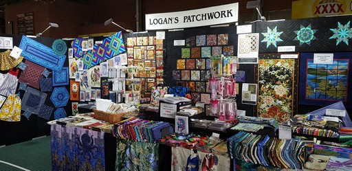 Logan's Patchwork stand image from Craft Alive in Newcastle 2019