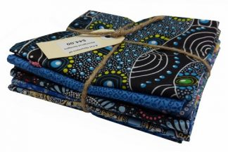 Aboriginal Art Fat Quarter Bundle - Blue
