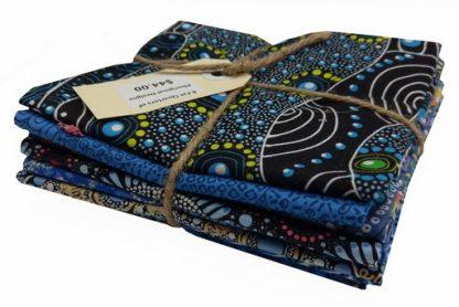 Aboriginal Art Fat Quarter Bundle - Blue