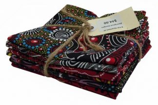 Aboriginal Art Fat Quarter Bundle - Red