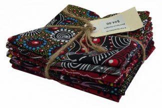 Aboriginal Art Fat Quarter Bundle - Red