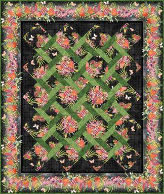 Australian Garden Twist Quilt Kit - Lap Size (Black)