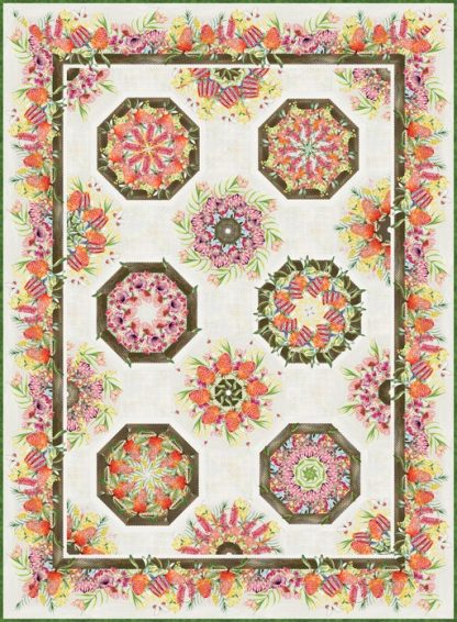 Australian One-Fabric Kaleidoscope Quilt Kit - Cream