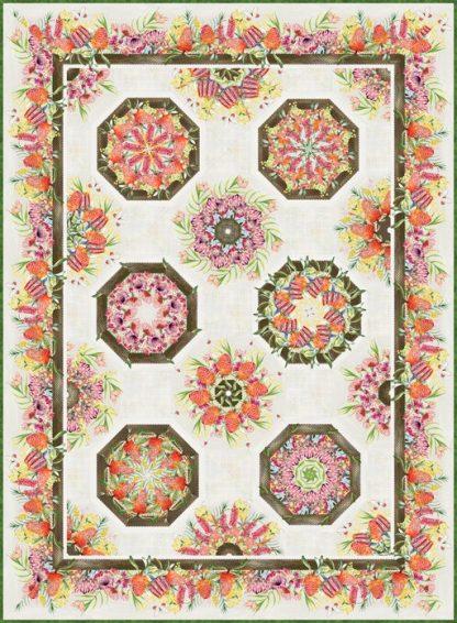 Australian One-Fabric Kaleidoscope Quilt Kit - Cream