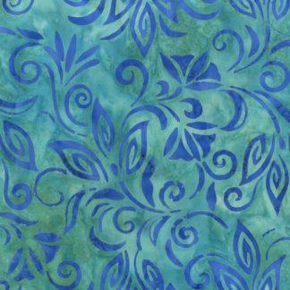 Blue Flowers 263Q-1 Aqua