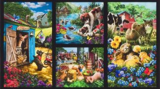Down on the Farm Panel - Country AZND-18323-276