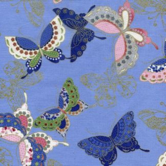 Quilted Butterflies - Blue