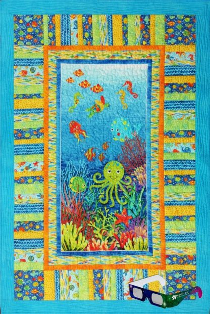 Undersea Adventure Quilt with 3D Glasses