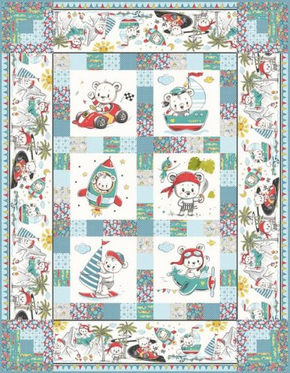 Teddy's Great Adventures Quilt Kit