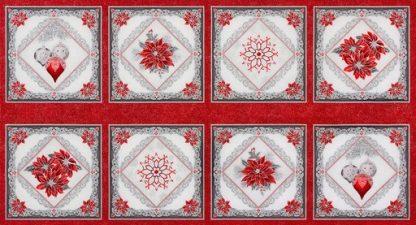 Holiday Flourish 12 Panel APTM-18340-93 Scarlet