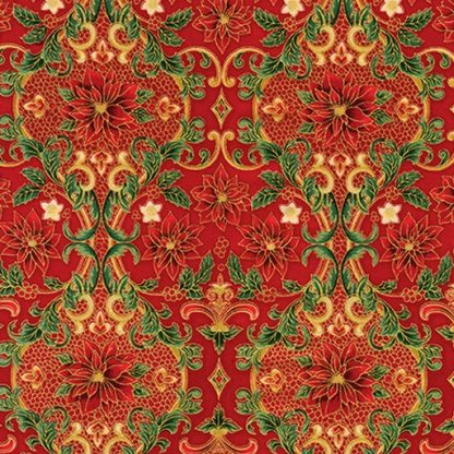 Holiday Flourish 12 APTM-18342-3 Red