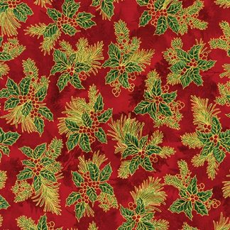 Holiday Flourish 12 APTM-18345-3 Red