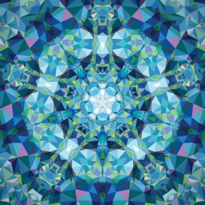 Gradients Kaleidoscope Panel – Blue