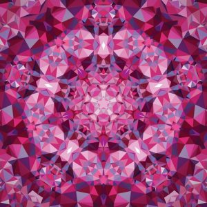 Gradients Kaleidoscope Panel – Pink