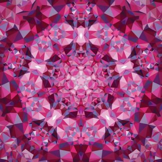 Gradients Kaleidoscope Panel - Pink