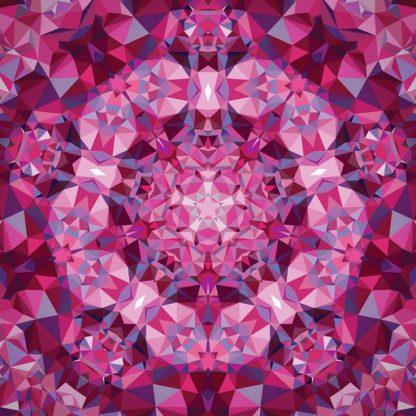 Gradients Kaleidoscope Panel - Pink