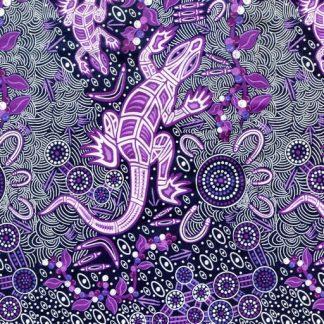 Man & Goanna - Violet