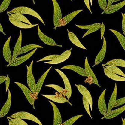 Gum Leaves - Black 0016-16