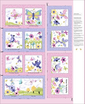 Flutter the Butterfly Book Panel SB20312-520