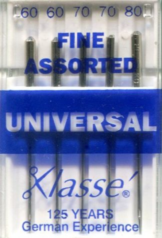 Packet of Fine Assorted Universal Machine Needles
