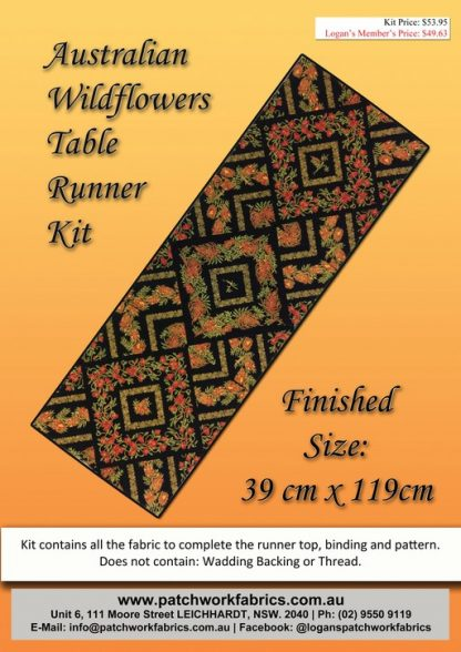 Australian Wildflowers Table Runner Kit