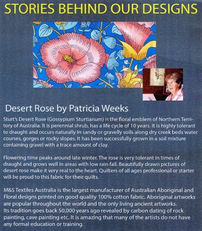 Information on Desert Rose by Patricia Weeks