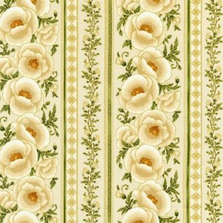 Gilded Blooms AHYM-18704-15 Ivory