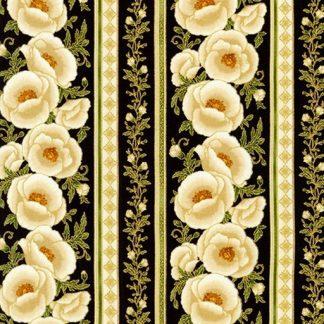 Gilded Blooms AHYM-18704-189 Ebony