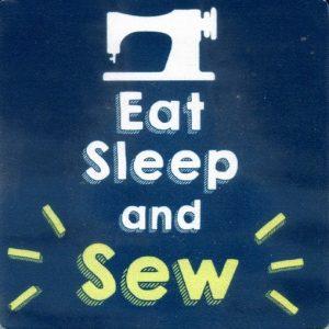 Coaster – Eat Sleep and Sew