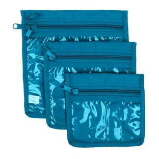 3 Piece Craft Pouches - Aqua
