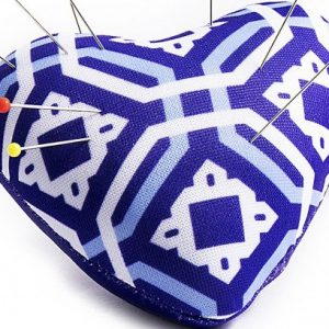 Heart Pin Cushion – Blue