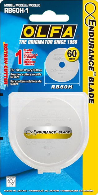 60mm Olfa Rotary Cutter Endurance Replacement Blade