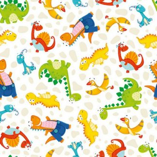 Small Tossed Dinosaurs - White 1699-46