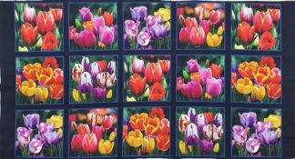 Tulips Panel Pnl_DP534-BLACK