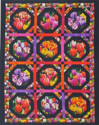 Tulips Panel Pnl_DP541-BLACK