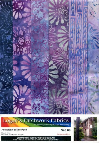 Anthology Batik Pack - Mauve and Purple