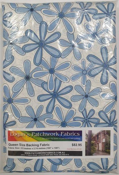 Queen Size Backing Fabric QSBFPk-26494-BLU1