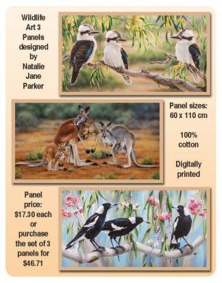 Wildlife Art 3 Panel Combo