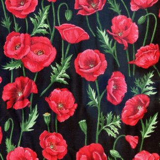 Poppies Stems - Black 80060-2