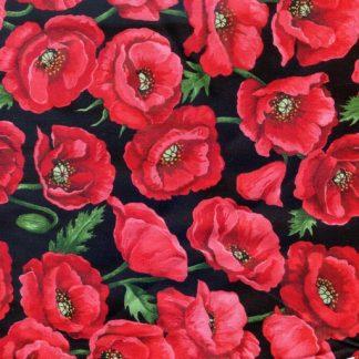 Poppies Blossom - Black 80060-5