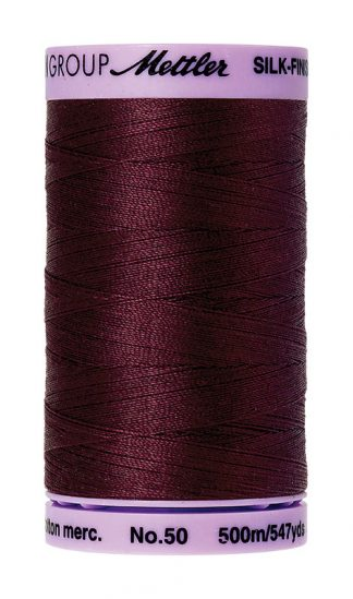 Mettler Silk-finish Cotton 50W 0111 Beet Red 500m Spool