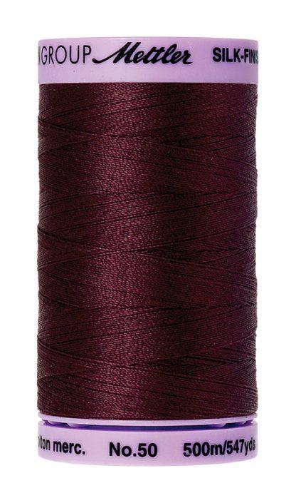Mettler Silk-finish Cotton 50W 0111 Beet Red 500m Spool