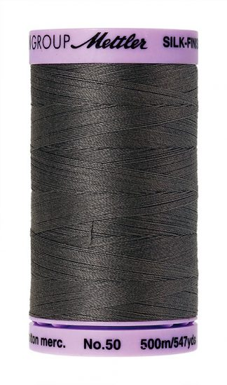 Mettler Silk-finish Cotton 50W 0416 Dark Charcoal 500m Spool